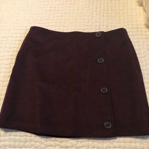 Prana wool blend mini skirt